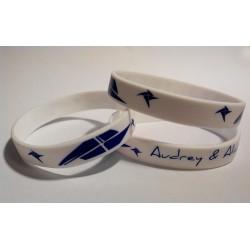 Bracelet blanc écriture...