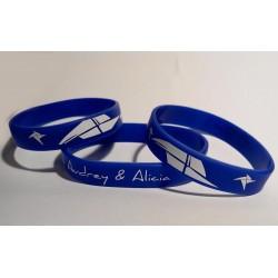 Bracelet bleu écriture...