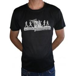 Tshirt HOMME Noir - Foulée...